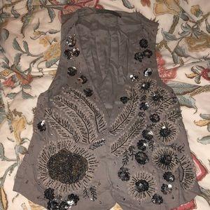 Stunning beaded Zara vest, size L